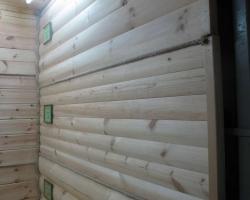 Стены из блок-хауса