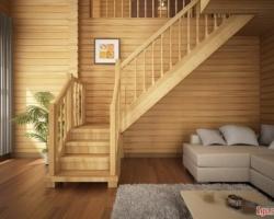 Поручень в конструкции лестницы