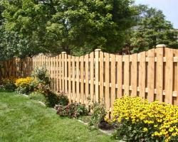 Забор из доски лиственницы сибирской