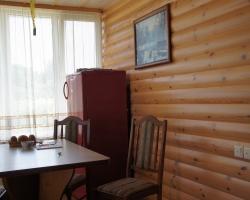 Блок-хаус на стенах кухни