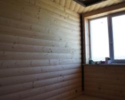 Умение мастера создавать стыковку блок-хауса